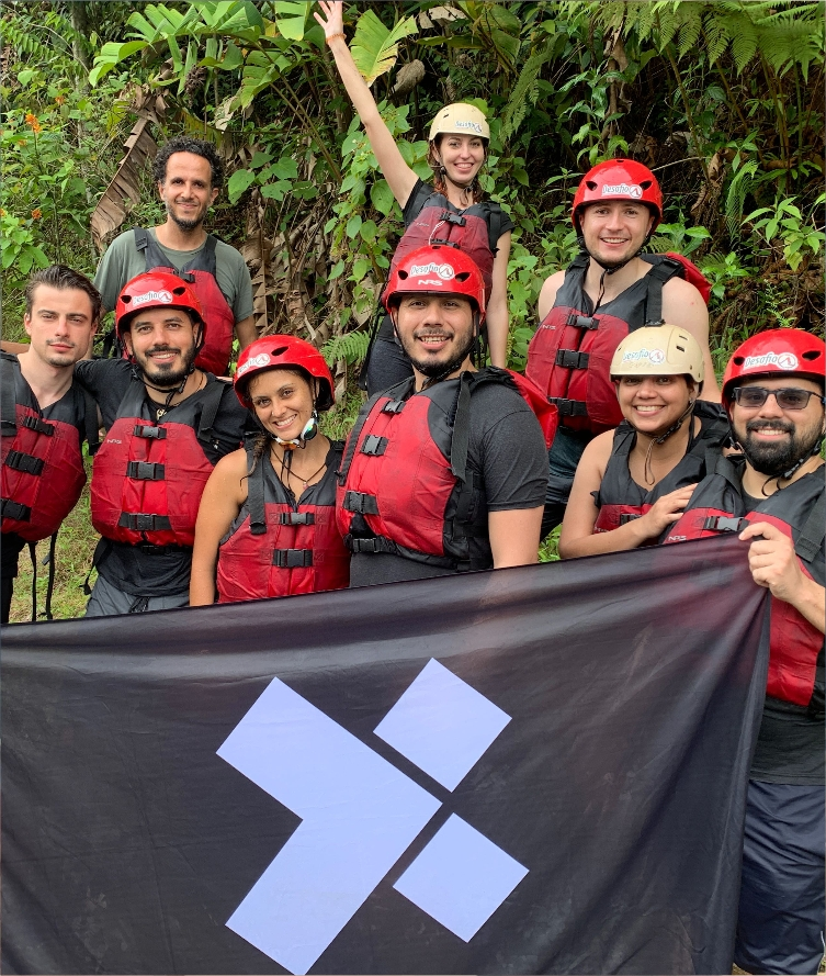 A group of X-Teamers at an X-Outpost in Costa Rica.